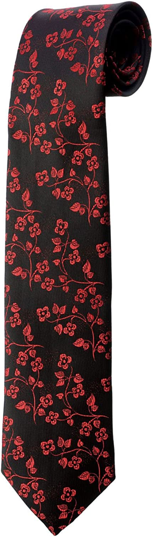 Oh La Belle Cravate Corbata negra de flores rojas diseño disfraz ...