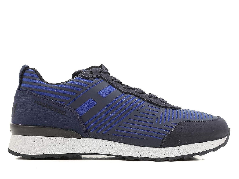 - Hogan Men's HXM2610W500ESB0XKA bluee Leather Sneakers