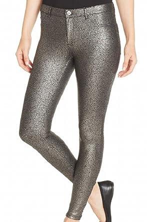 05585d151f5c95 Amazon.com: Hue Women's Metallic Gravel Printed Satin Jersey Leggings:  Clothing