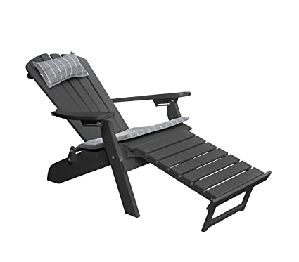 Brilliant Amazon Com Polywood Adirondack Chair With Retractable Short Links Chair Design For Home Short Linksinfo