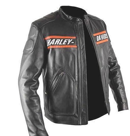 New Men S Harley Davidson Screaming Eagle Leather Jacket At Amazon