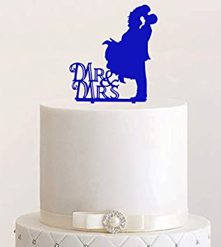 Cake Topper Mr Mrs Farbwahl Tortenstecker Tortefigur Acryl