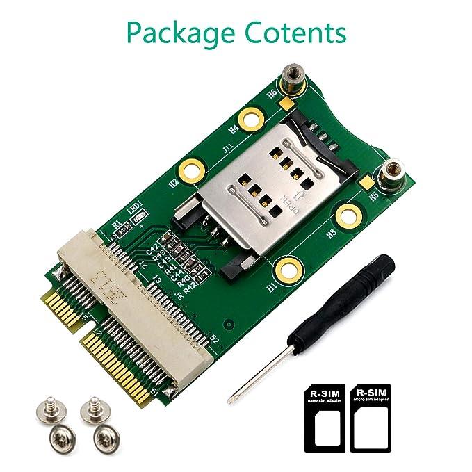 Amazon.com: Superplus - Adaptador mini PCI-E con ranura para ...