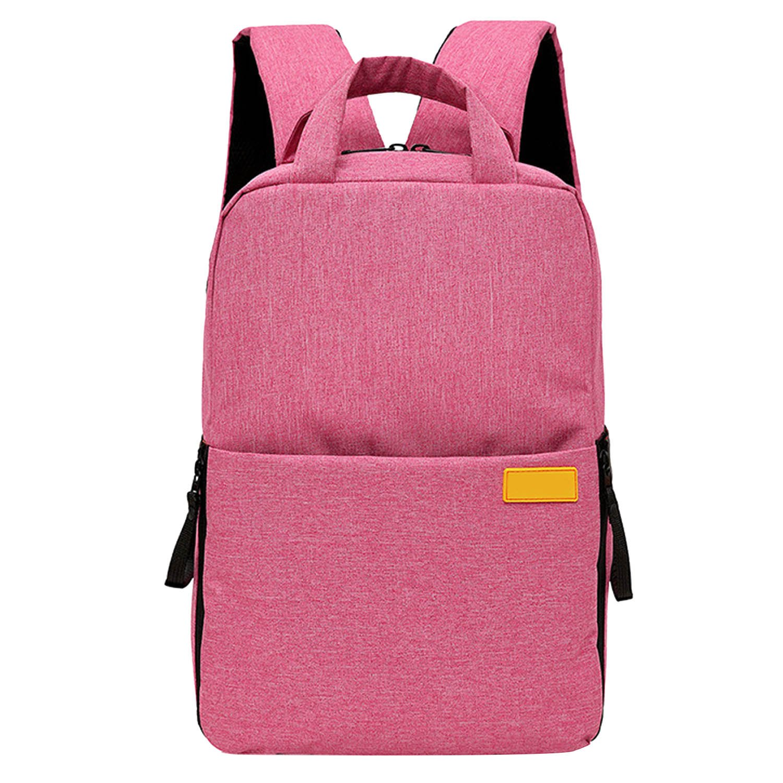 Elisona-Oxford Cloth Shockproof Camera Storage Shoulder Backpack Photography Video Bag Universal for DSLR Camera Nikon Canon Sony Pentax Grey
