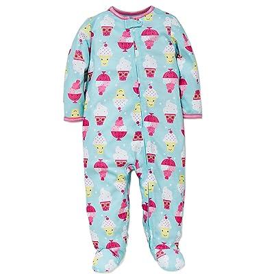 Baby Girls Ice Cream Sleeper Footed Pajamas