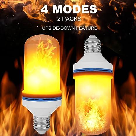 Amazon.com: AttoPro - Bombillas LED E26 E27 con efecto llama ...