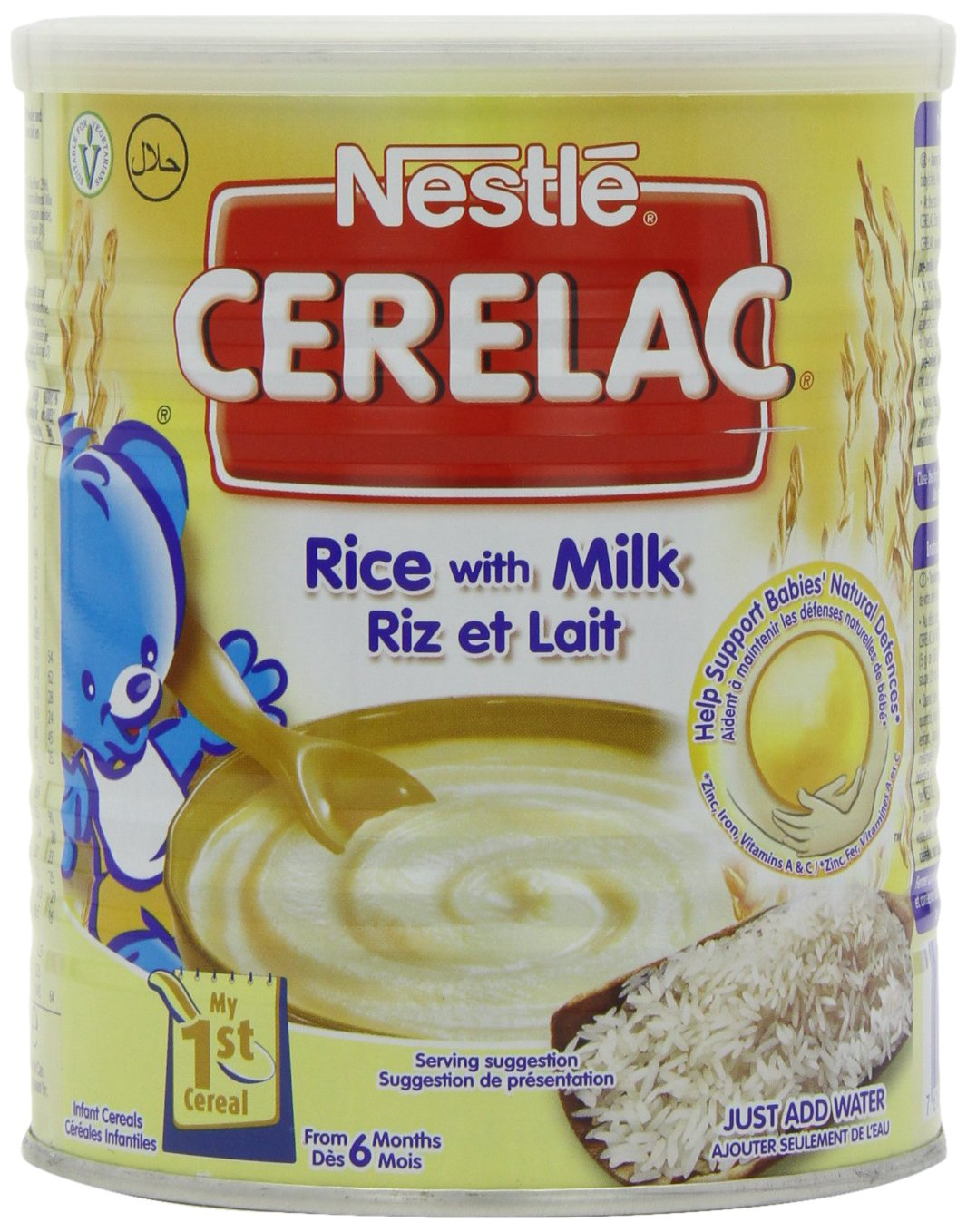 Nestle Cerelac Stage 1 From 6 Months Rice with Milk 400 g (Pack of 4) DIMBL