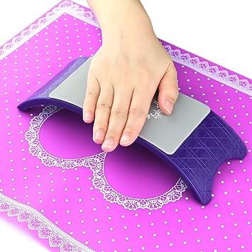 Amazon.com: bluetop & silicona Nail Art Cojín Almohada salón ...