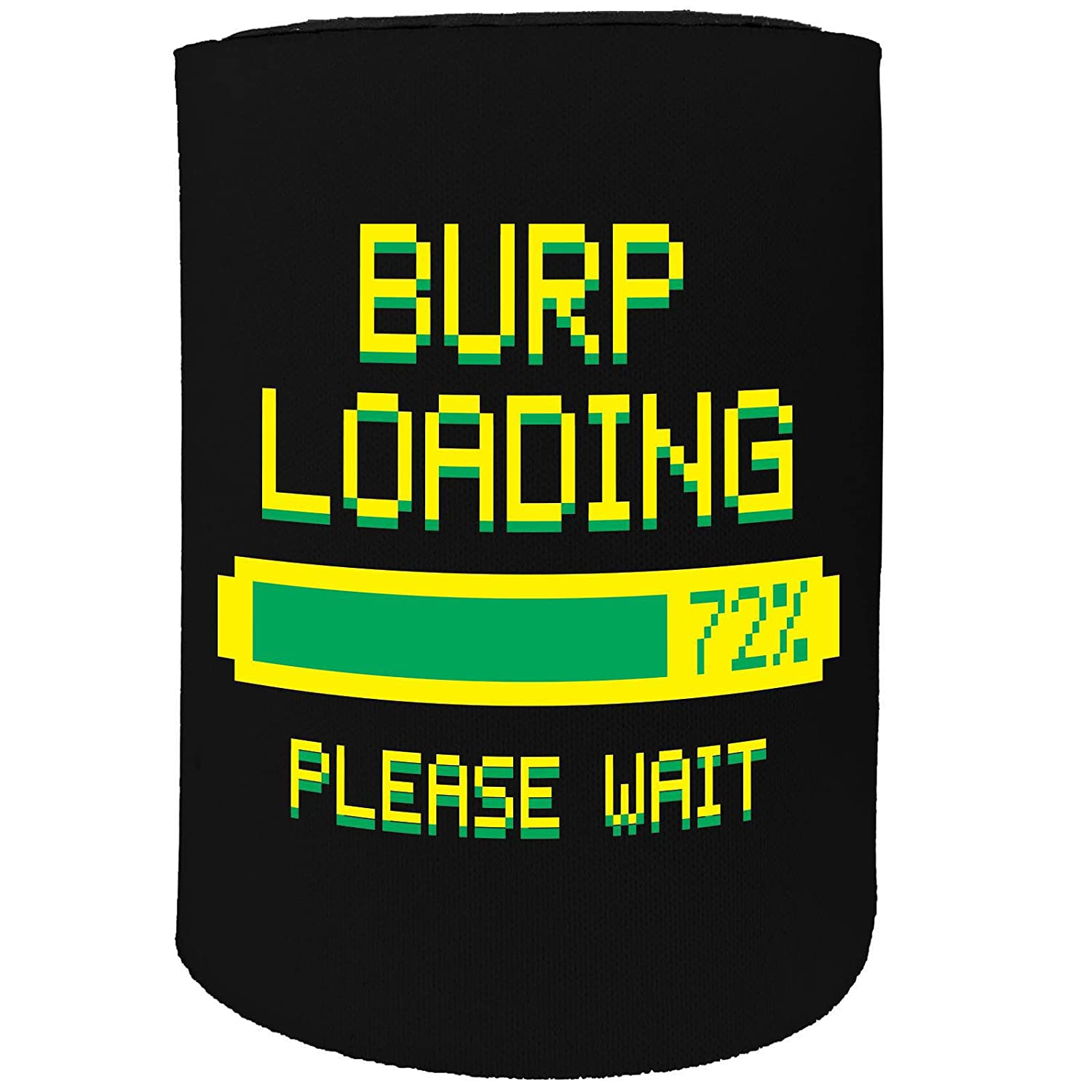 123t Stubby Holder - Burp Loading - Funny Novelty Birthday Gift Joke Beer Can Bottle Coolie Koozie Stubbie