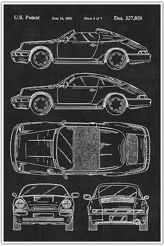 Amazon porsche car blueprint patent patent poster blueprint porsche car blueprint patent patent poster blueprint poster art gift malvernweather Gallery