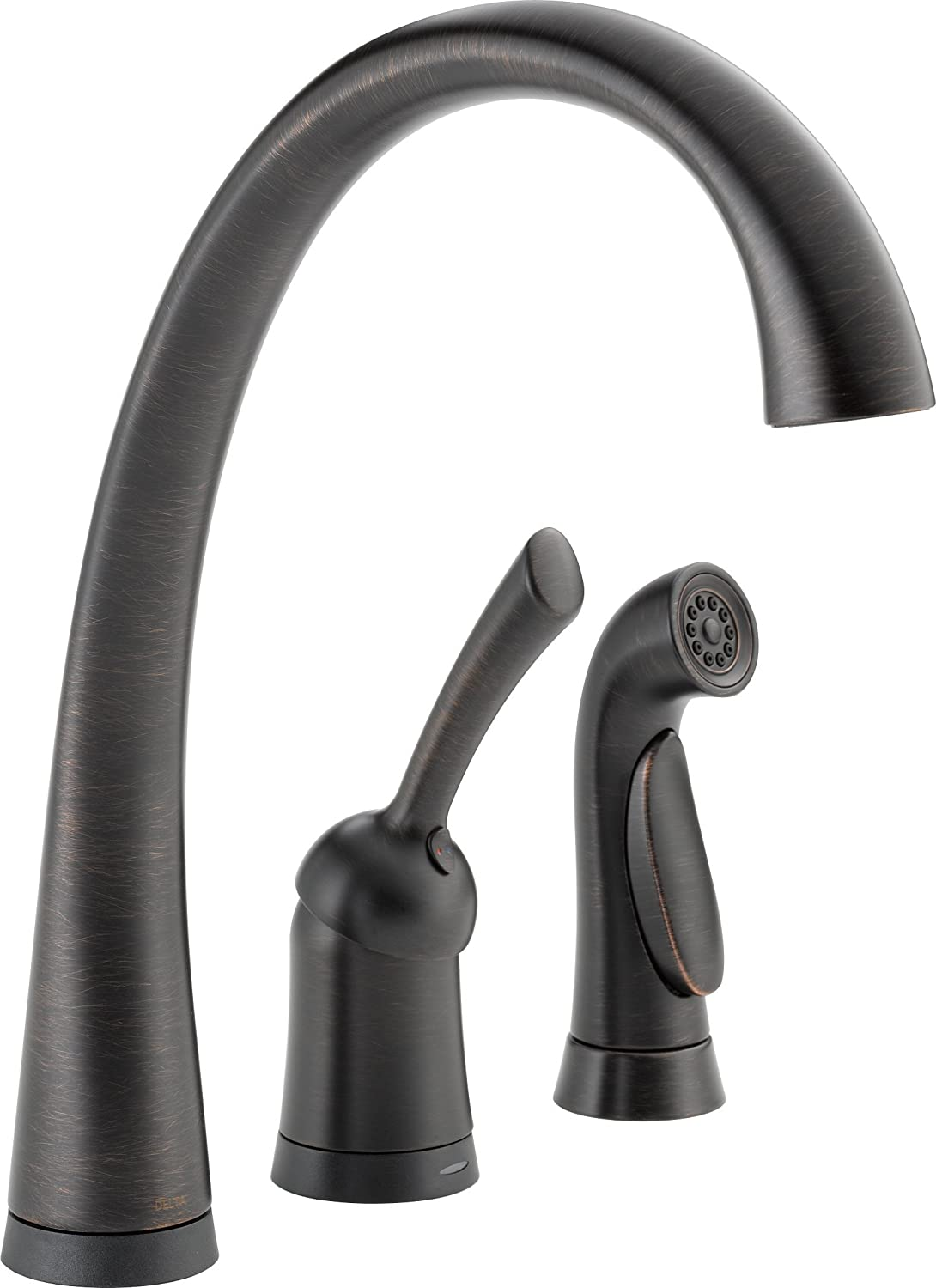 Delta 4380T DST Pilar Single Handle Kitchen Faucet With Touch2O Technology  And Spray, Chrome   Touch On Kitchen Sink Faucets   Amazon.com