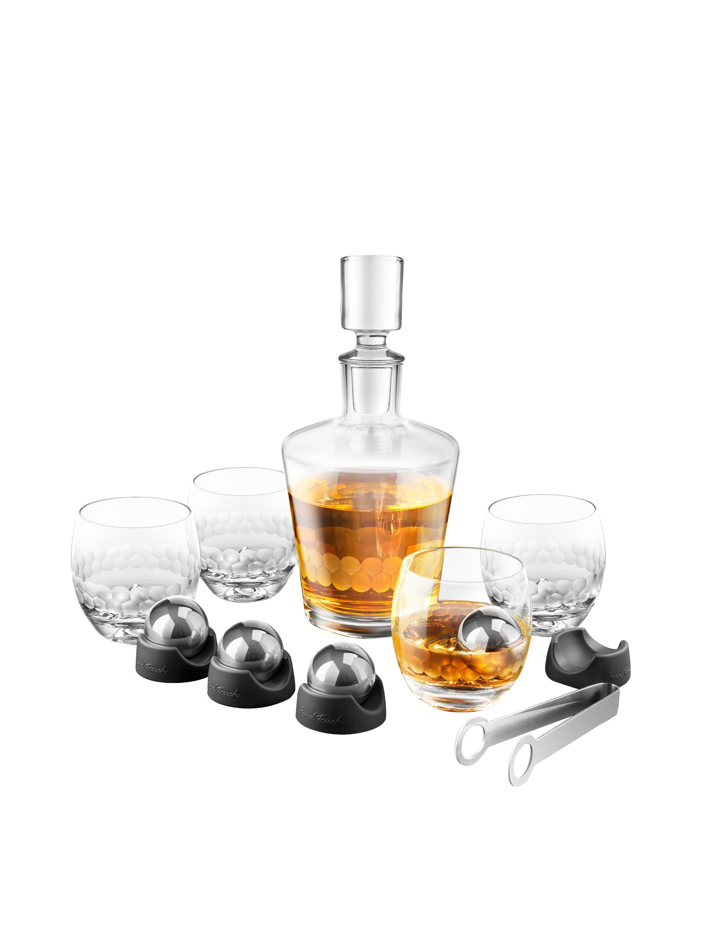 On The Rock Glass & Ice Ball Set (15 Pieces)