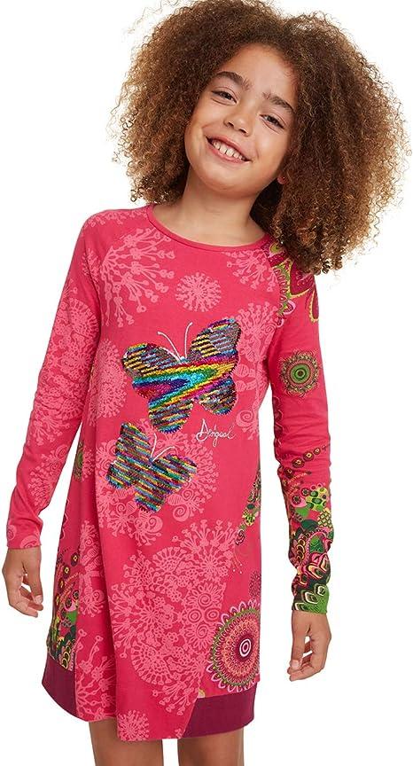 Desigual Vest/_Wildflower Vestito Casual Bambina