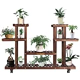 VIVOSUN Wood Plant Stand Plant Display Shelf Flower Rack Display for Indoor Outdoor Garden Lawn Patio Bathroom Office Living