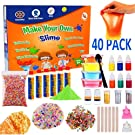 Slime Kit For Girls, Boys, Kids and Children - Gift Set | Making Create Ultimate DIY Crunchy Stretchy Floam Fluffy Galaxy Cloud Putty + Containers | Activator Clear Glue and Prime Supplies Accessories