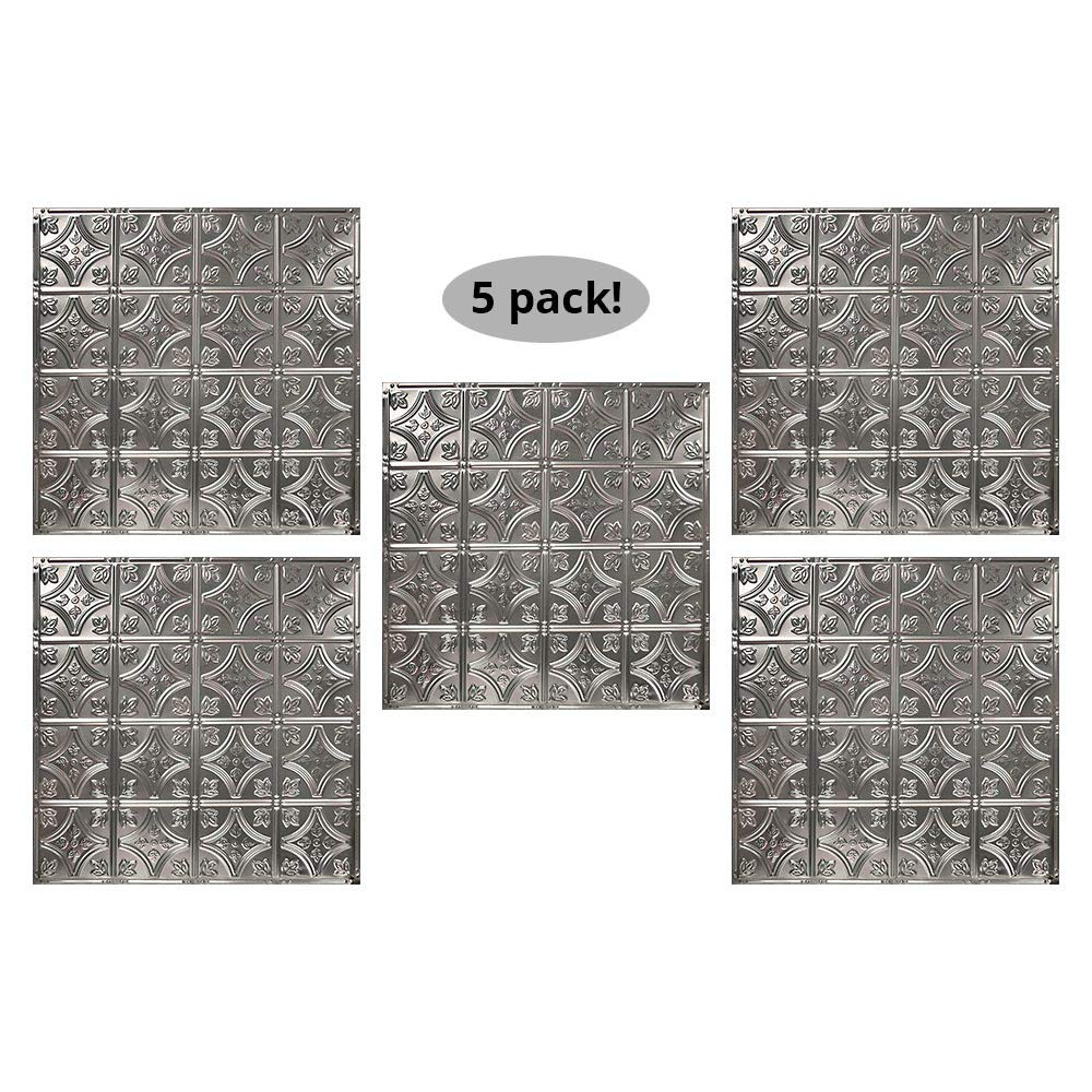 American Tin Ceilings 24x24Nail-Up Tin Ceiling Tile Pattern #3, 5 Pack, Unfinished by American Tin Ceilings
