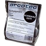 @tec Premium Pigmentpulver, Eisenoxid, Oxidfarbe - 1kg Farbpigmente für Beton + Wand - Farbe: schwarz