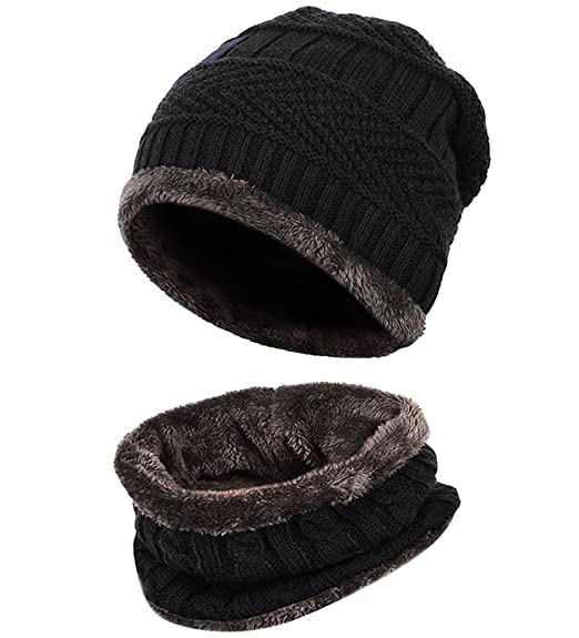 3e2a6325826d5 Image Unavailable. Image not available for. Color  Loritta Men Beanie Hat  Scarf Set Winter Warm Knit Hat and Infinity Scarf Gift Set