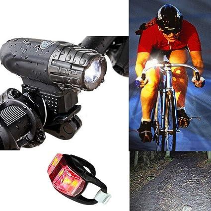 MASO - Juego de faros delanteros y LED para bicicleta, recargables ...