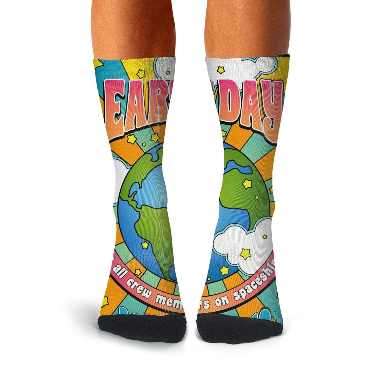Men Happy Earth Day poster socks Boot Casual Running Dress