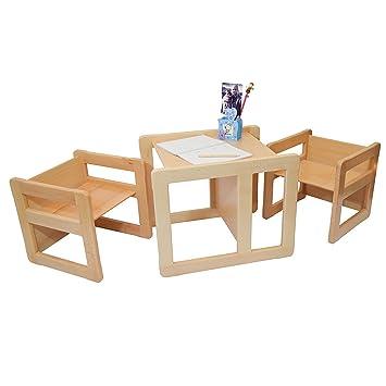 Obique 3 En 1 Mobilier Multifonctionel Enfants Ensemble De Deux Petites Chaises Tables Une