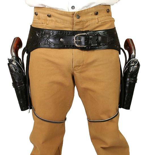 Steampunk Clothing- Men's  Leather Western Gun Belt and Holster .22 cal $162.95 AT vintagedancer.com