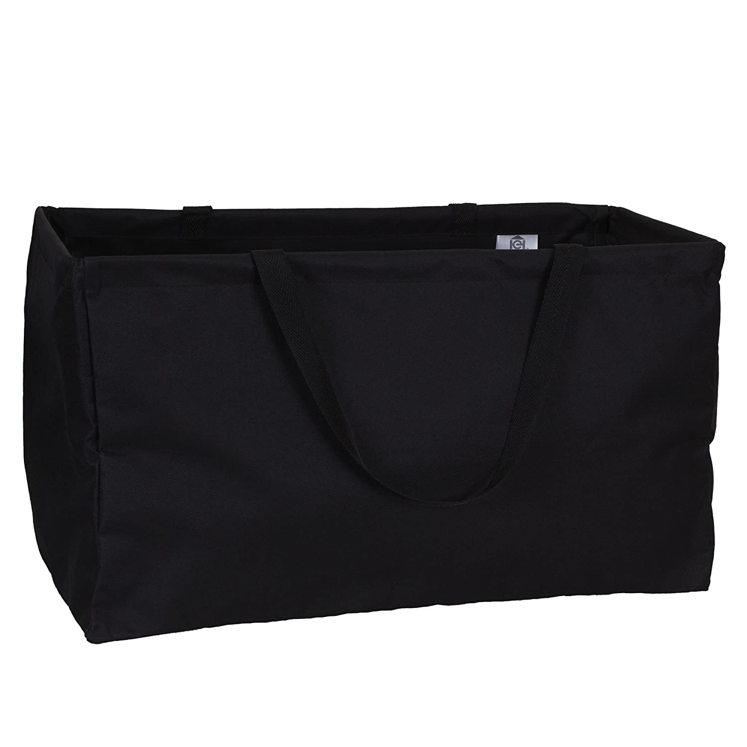 Household Essentials 2212-1 Krush Canvas Utility Tote | Reusable Grocery Shopping Bag | Laundry Carry Bag | Black