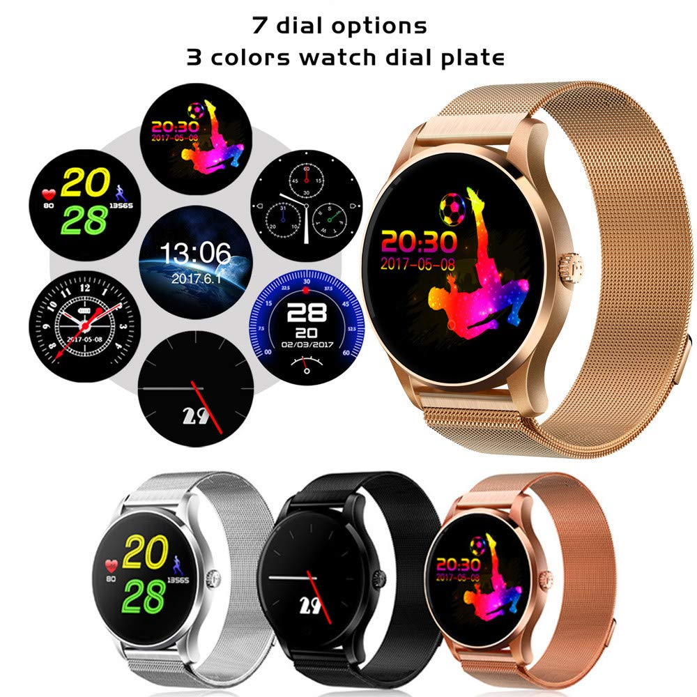 Amazon.com: Star_wuvi Smart Watch iOS Android Heart Rate ...
