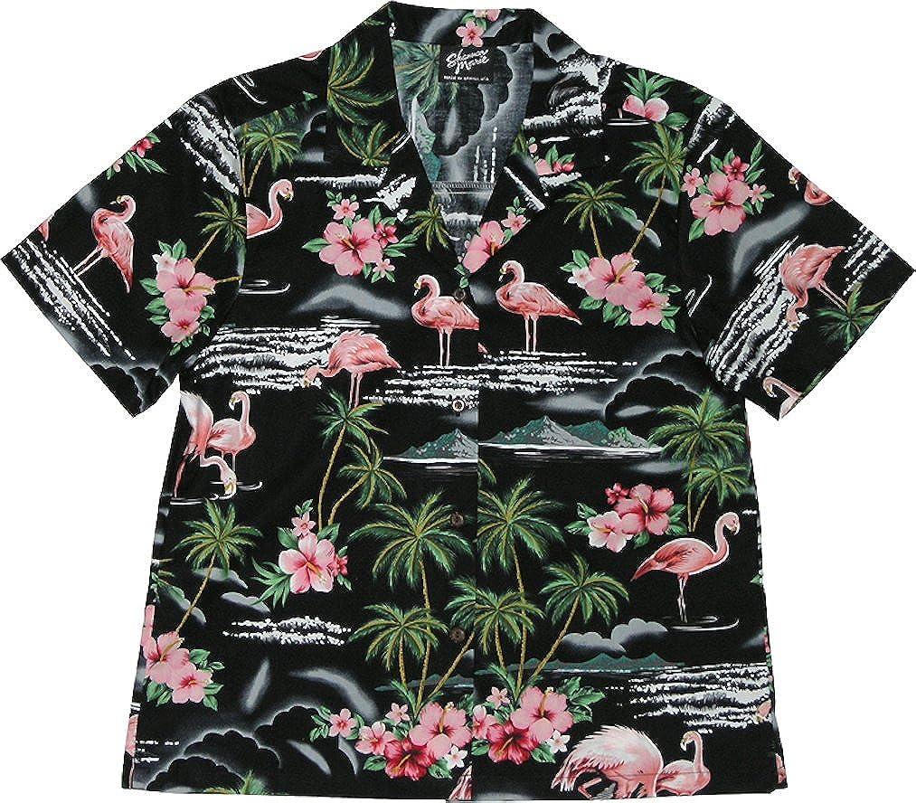 RJC Mens Flamingo Paradise Hawaiian Shirt