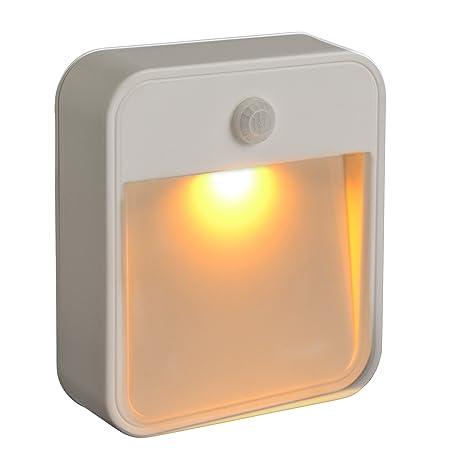 Mr Beams LED Treppenlicht weiß mit Bewegungsmelder Amber MB720A 2er Pack