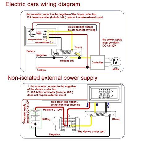 drok reg 0 28 led dc0 100v 10a digital voltmeter ammeter 2in1 multimeter 12v 24v voltage amperage meter volt amp gauge panel with red blue dual color