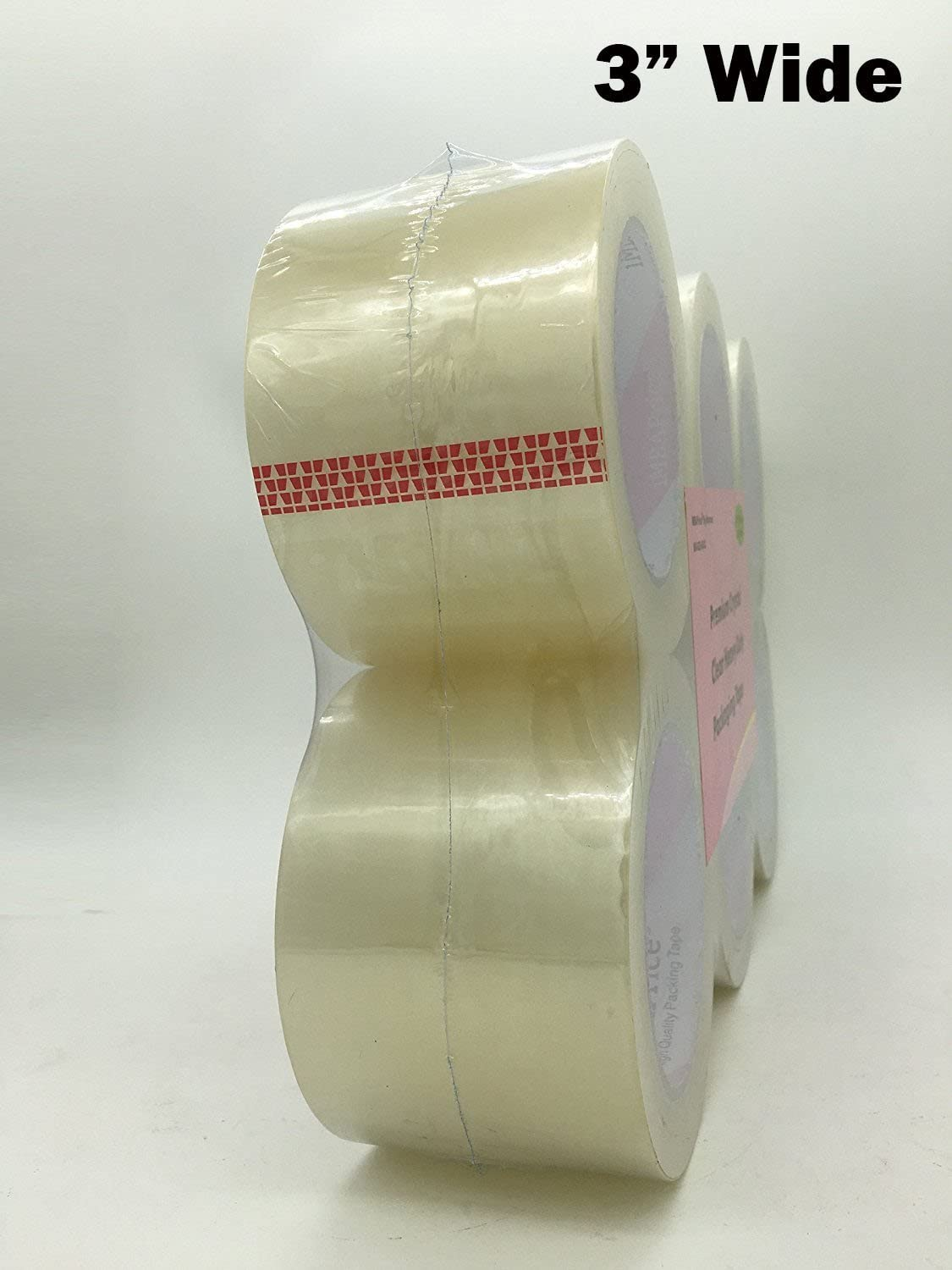 2x330 Feet Total 220 Yards iMBAPrice 3 Premium Packing Tape 3 Wide 2.6 mil Heavy Duty Ultra Clear Extra Long Lasting Shipping Packaging Tape - 2 Roll of 110 Yards