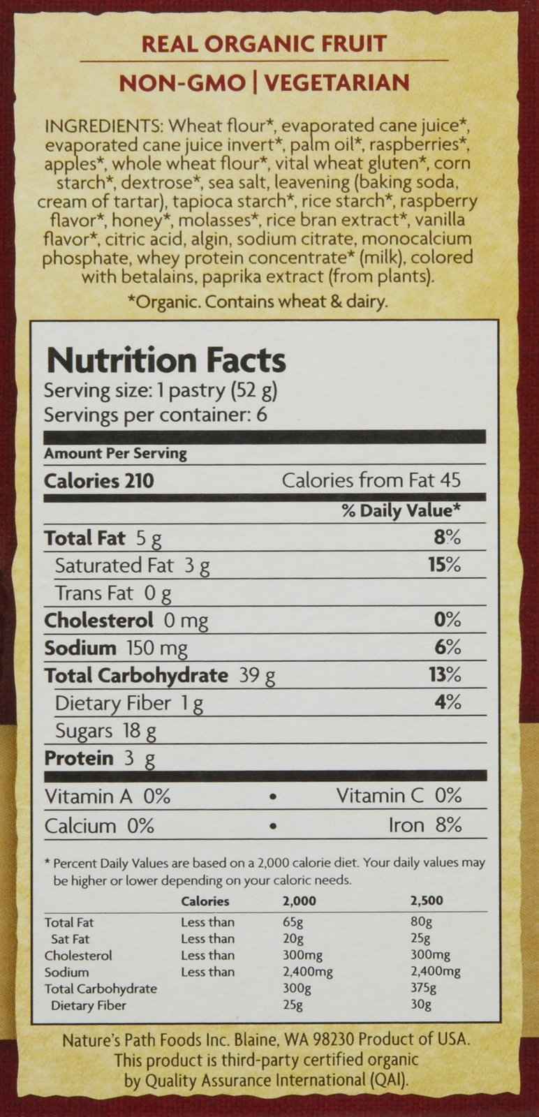 Nature's Path Frosted Toaster Pastry - Raspberry - 11 oz - 6 ct by Nature's Path (Image #2)