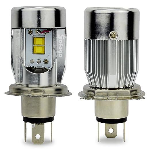 7 opinioni per H4 High Low Faro Bulbi Auto LED Luci Kit 50W 5600LM Super Luminosa Lampada con