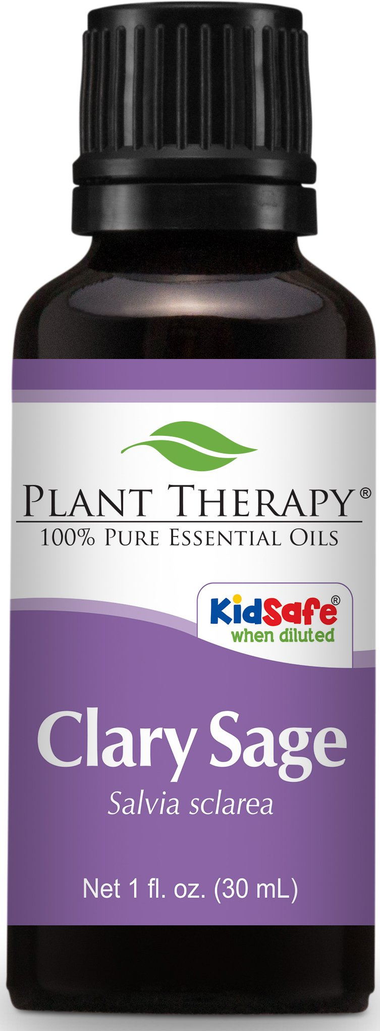 Plant Therapy Clary Sage Essential Oil. 100% Pure, Undiluted, Therapeutic Grade. 30 mL (1 Ounce).