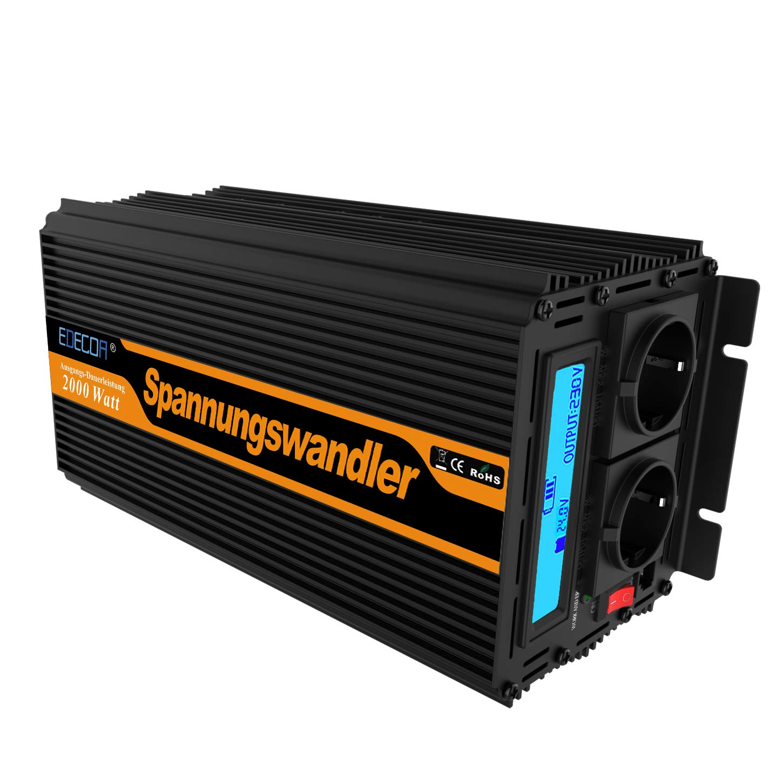 Inversor electrico de 2000 4000w convertidor de voltaje de 24v a 230v transformador de corriente de