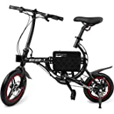 SwagCycle EB-1 Classic Lightweight Aluminum Folding eBike with High-Torque 250W Motor and Dual Disc Brakes; Electric Bike with Pedal-Assist and Swappable Bike Seats