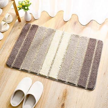 DYY Home Fußmatten Eingangstür Wohnzimmer Teppiche Streifen Modernen  Minimalistischen Schlafzimmer Nachtdecken Anti Rutsch
