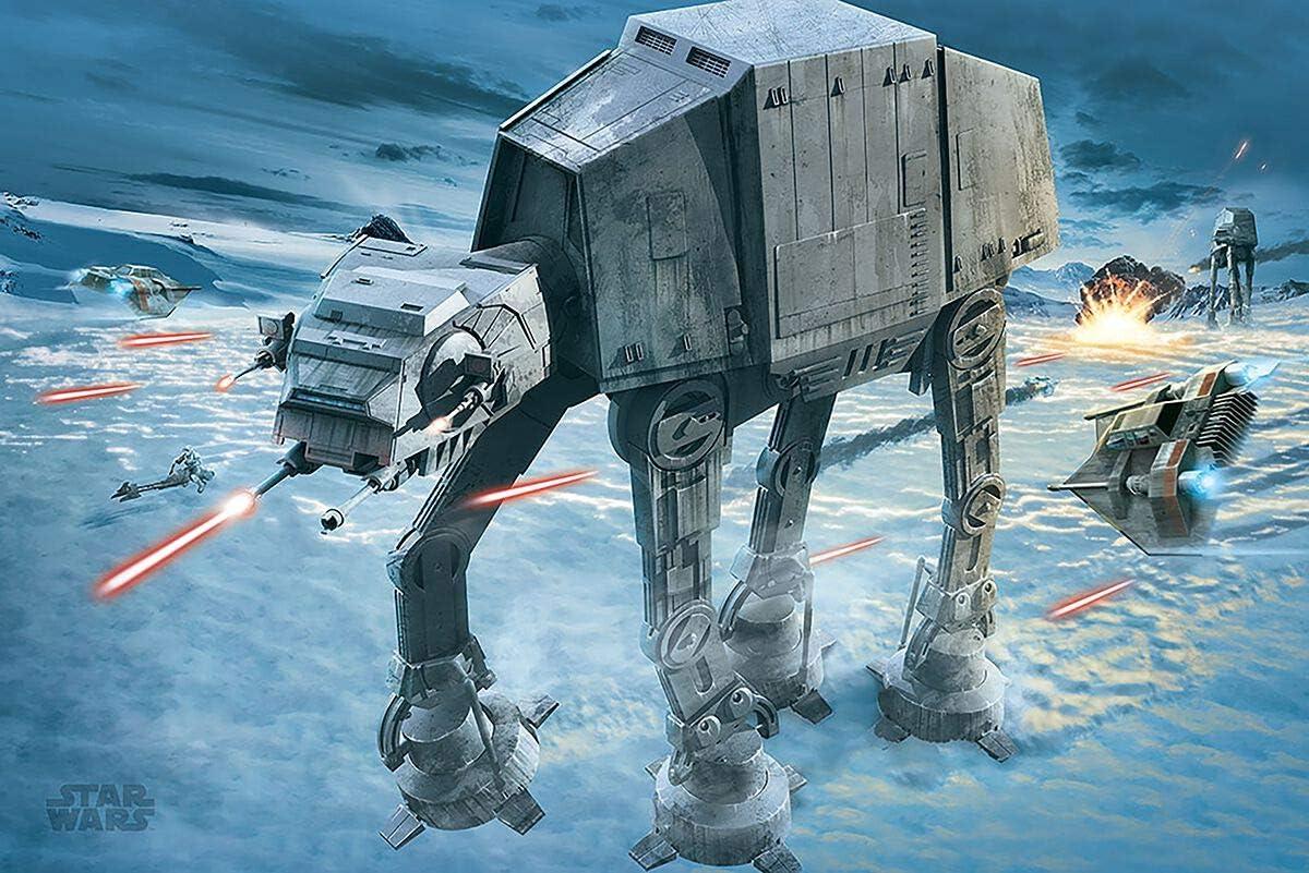Pyramid International Star Wars ATAT Attack Movie Cool Wall Decor Art Print Poster 36x24