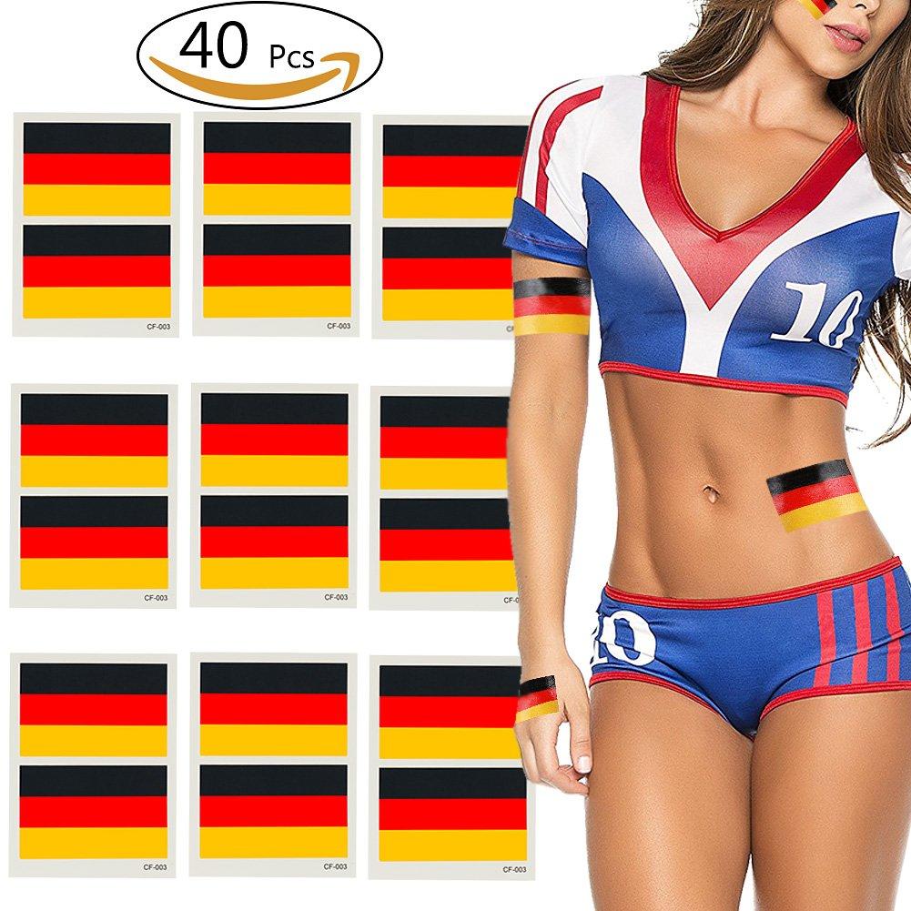 VAMEI 2018 Weltmeisterschaft FIFA National Banner Fahnen Tätowierung Tätowierung Set Gesicht Körper Aufkleber SJBLT01