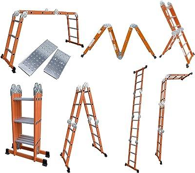 6 en 1 multifunción Escalera incl. Plataforma Escalera escalera – Escalera andamio Escalera: Amazon.es: Bricolaje y herramientas