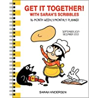 Sarah's Scribbles 16-Month 2021-2022 Weekly/Monthly Planner Calendar: Get It Together with Sarah's Scribbles