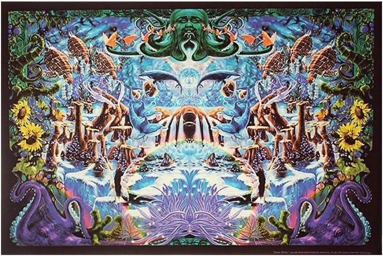 Studio B Octopus Garden Blacklight Poster by Richard Biffle 36 x 24in