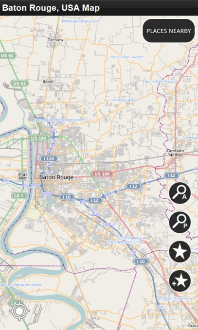 Amazon.com: Baton Rouge, USA - Offline Map: Appstore for Android