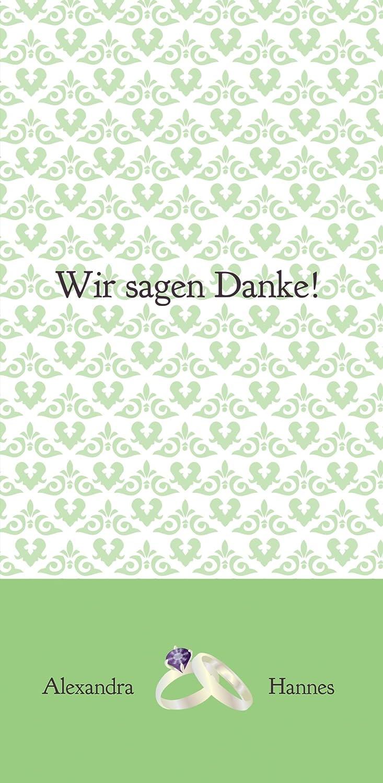 Kartenparadies Danksagung für Hochzeitsgeschenke Hochzeit Danke Danke Danke Ornament mit Herz, hochwertige Danksagungskarte Hochzeitsglückwünsche inklusive Umschläge   10 Karten - (Format  105x215 mm) Farbe  TürkisGrauMatt B01N13HMDY | Kunde  9949a2