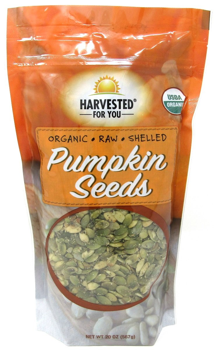 Harvested for You Organic Raw Shelled Pumpkin Seeds - 20oz., 567g.
