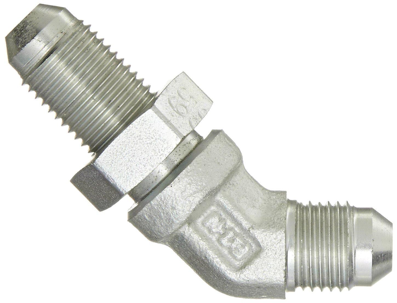 Eaton Aeroquip 2042-5-5S 45 Degree Bulkhead Union Elbow Carbon Steel 5//16 Tube OD m JIC 37 Degree End Types End Size 5//16 JIC