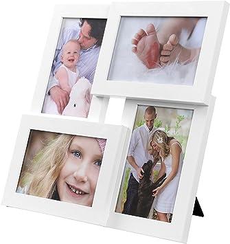 Bilderrahmen 2 Fotos 13x18cm Collage Rahmen Fotorahmen 37,5x30x2,5cm Multirahmen