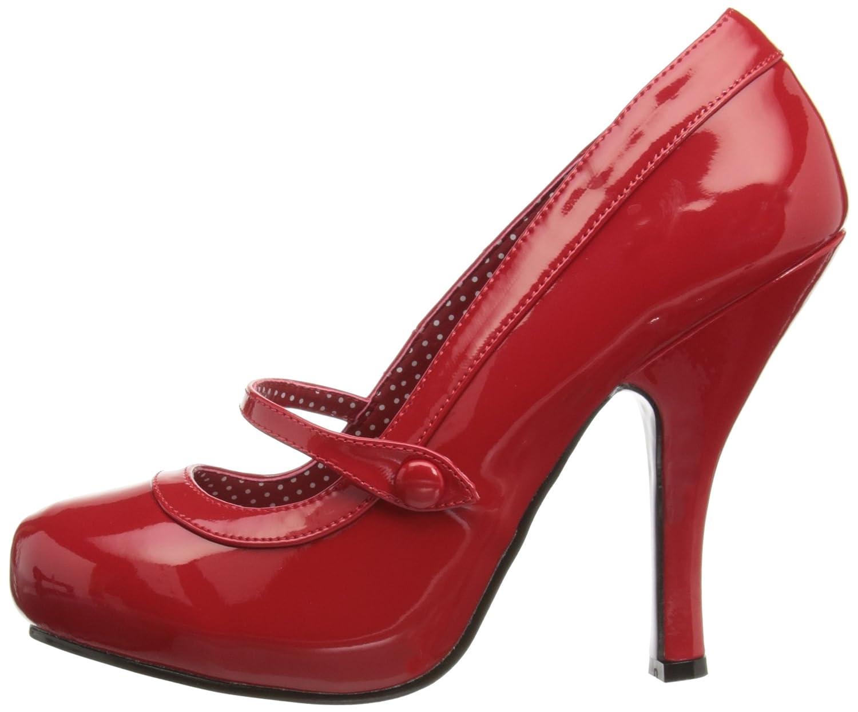 Pleaser Women's B00A0ITDJG Cutiepie-02/R Mary Jane Pump B00A0ITDJG Women's 6 B(M) US Red Patent 755b14