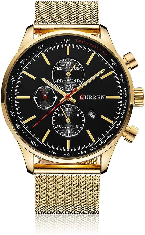Curren - Reloj de pulsera para hombre de Cuarzo, casual, resistente al agua 30m